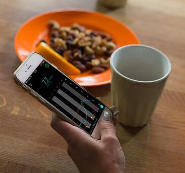 Sugar.IQ助手可以分析食物摄入量对血糖水平的影响