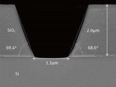 采用新型两步等离子刻蚀工艺制造的锥形开口