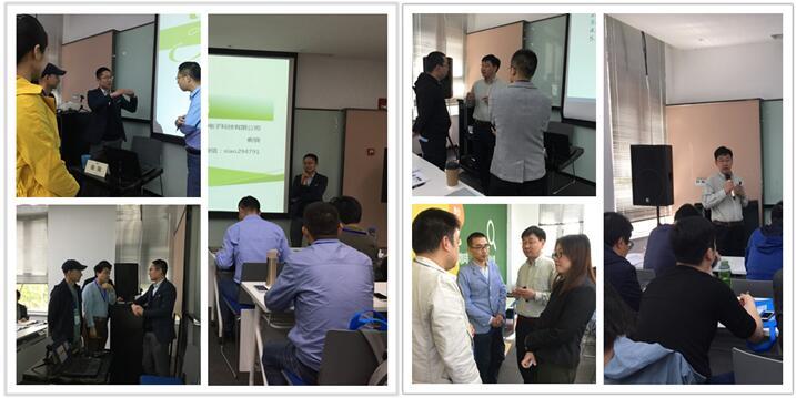 苏州诺联芯电子的MEMS技术经理俞骁博士与苏州MEMS中试平台的技术总监马清杰老师