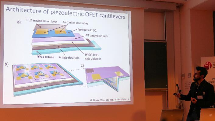 Cedric Ayela介绍压电OFET悬臂结构
