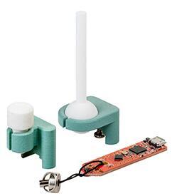 3D Magnetic Sensor 2Go套件具备游戏杆或旋钮的磁铁固定座(转接器)