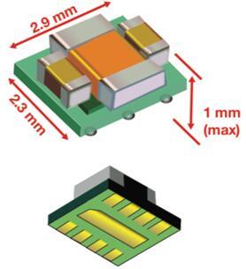 TI MicroSiP的横截面图