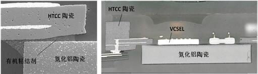 采用DPC陶瓷基板贴装HTCC陶瓷基座的VCSEL封装图
