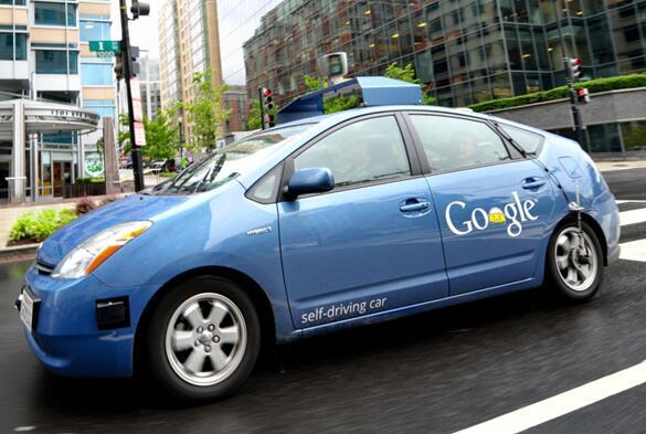 谷歌早期的自动驾驶原型车