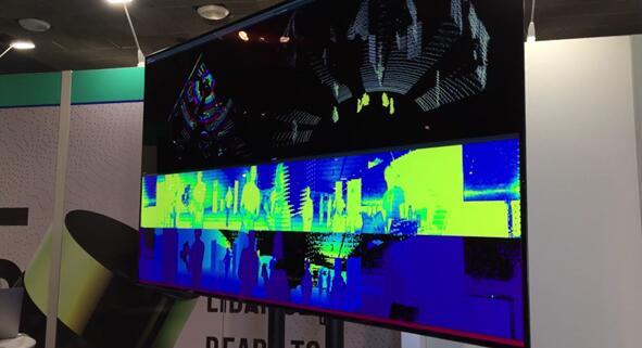 64线OS-1在展会现场的实时演示