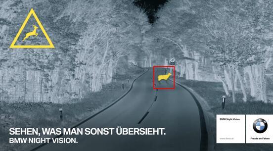 宝马7系轿车装配的红外夜视与目标识别功能