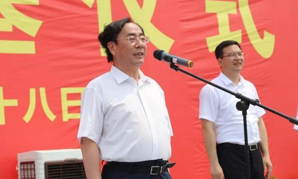 绍兴市委书记马卫光宣布项目开工奠基