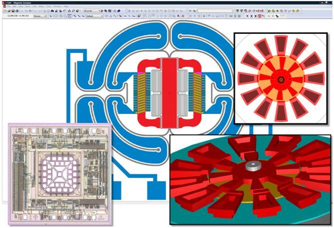 MEMS磁执行器、加速度计和旋转侧驱动电机