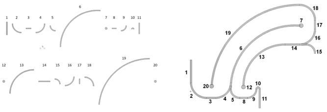 由基本曲面对象拼接而成的复杂MEMS形状