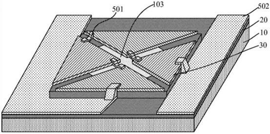 本发明基于SiC热电材料的高温热流传感器的立体结构示意图