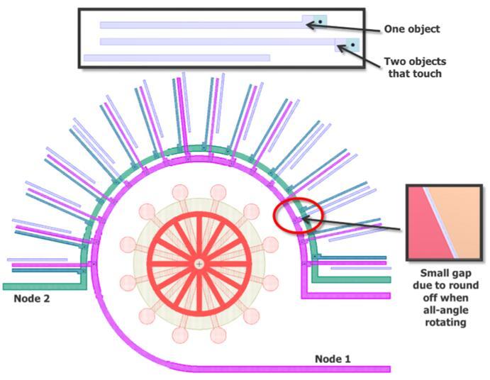 MEMS几何形状的节点高亮显示,以及接触对象的全角旋转问题