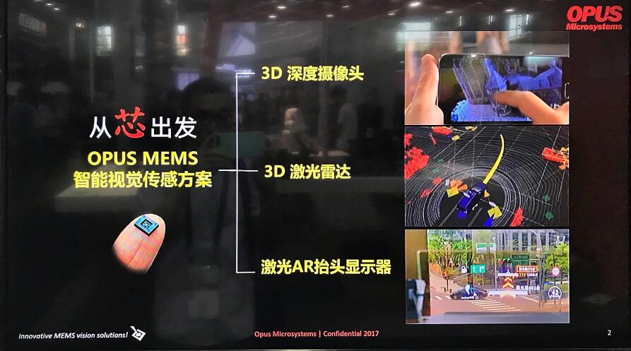 OPUS创新的MEMS智能视觉传感方案