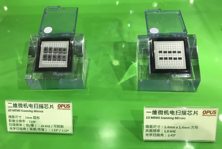 OPUS自主专利的MEMS扫描芯片