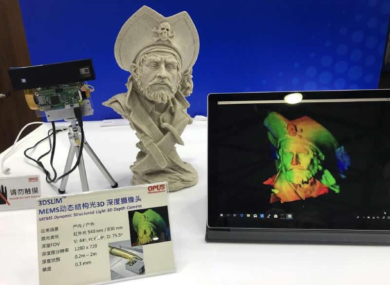 3DSLiM系列MEMS动态结构光3D深度摄像头扫描形成的高精度海盗模型