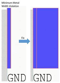 检测金属宽度违规并予以解决