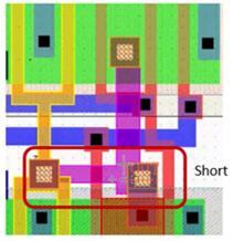 LVS检测到短路错误