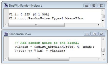 为信号添加随机噪声的SPICE平台与Verilog-A代码