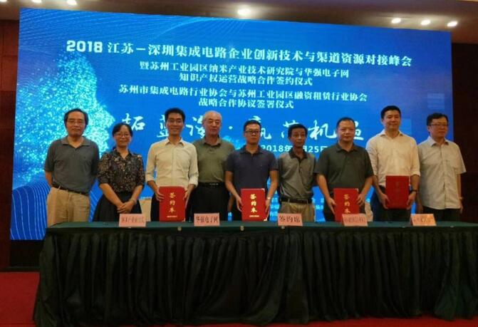 苏州工业园区纳米产业技术研究院与华强电子网知识产权运营战略合作签约仪式