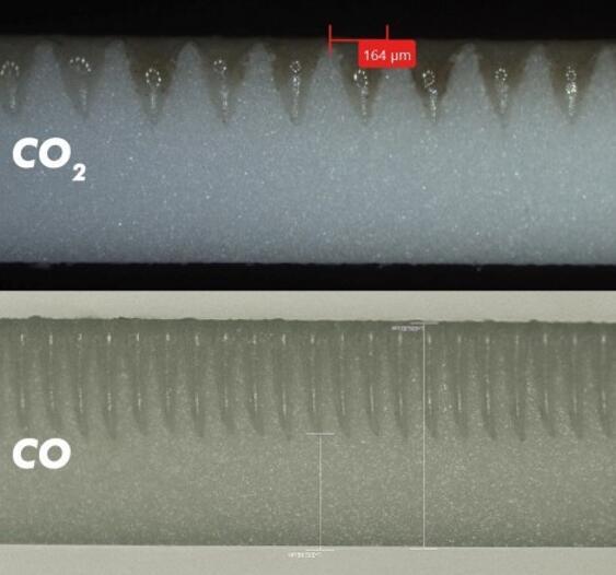 0.6mm厚切割LTCC横截面