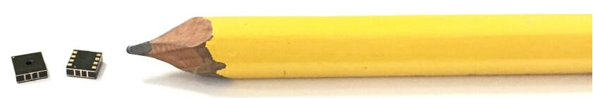 Chirp压电超声波传感器与铅笔的对比