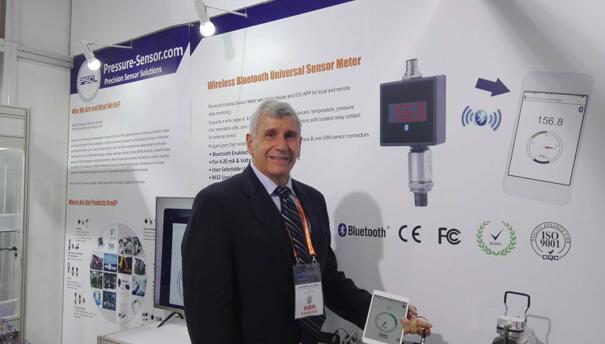 Pressure Sensor总裁Steve Petrucelli博士携多款新品亮相Sensor China