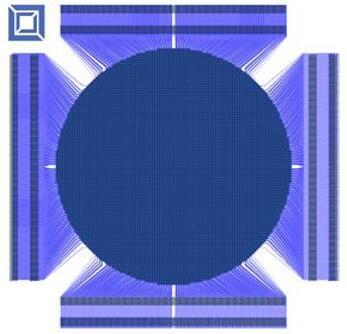 包含8000个驱动器的可变形反射镜版图设计
