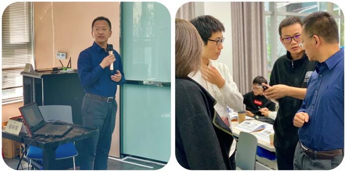浙江大立科技股份有限公司副总经理姜利军老师的授课风采