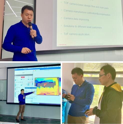 ESPROS Photonics Corporation中国区技术支持金丰老师的授课风采