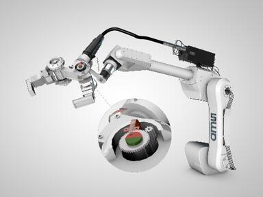 带有磁性位置传感器的机器人手臂