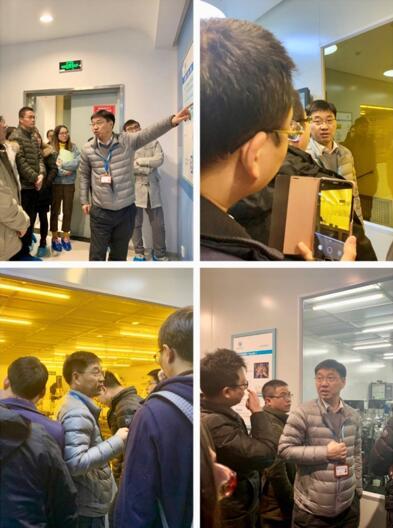 马清杰老师带领学员参观学习苏州MEMS中试平台的MEMS制造产线