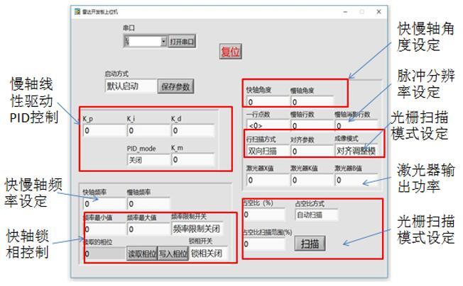希景科技的激光雷达开发模组的软件控制界面