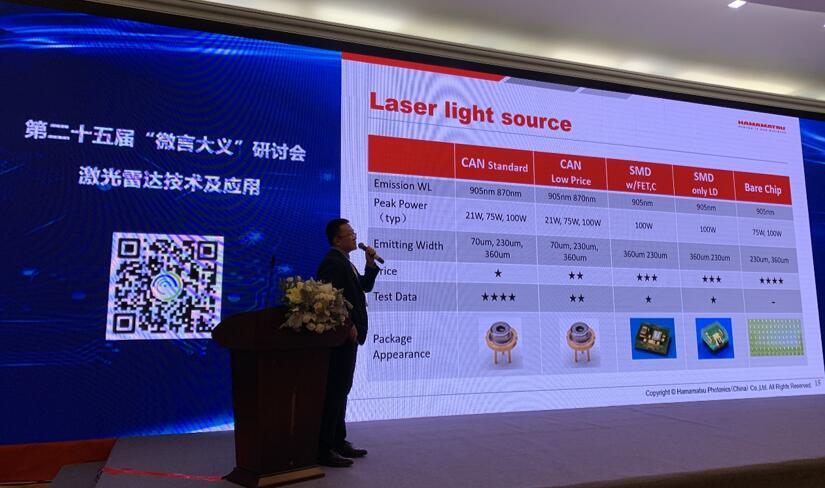 滨松资深技术工程师鲍泽宇先生剖析激光光源