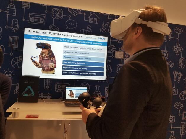 TDK为一体化VR应用推出全新6自由度超声波控制器跟踪解决方案
