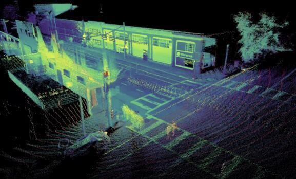 单颗OS-1 64激光雷达传感器的SLAM输出