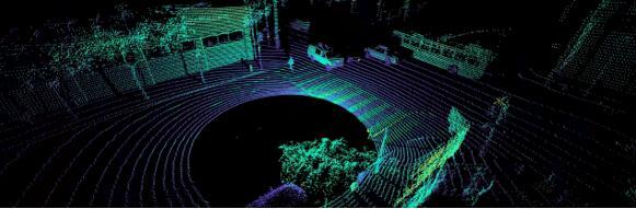 单颗OS-1 64激光雷达的点云输出