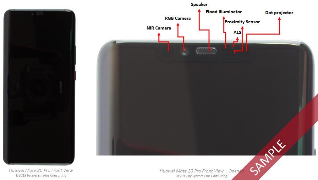 华为Mate 20 Pro手机及3D深度传感系统