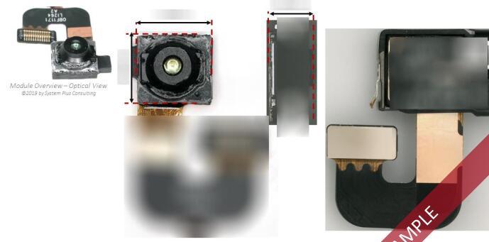 近红外摄像头拆解分析@华为Mate 20 Pro手机3D深度传感系统