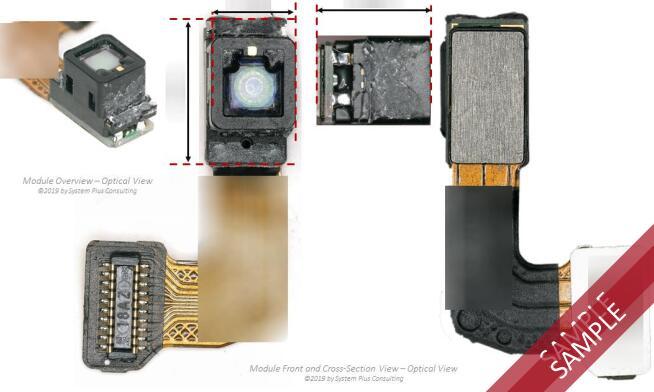 红外点阵投影器拆解分析@华为Mate 20 Pro手机3D深度传感系统