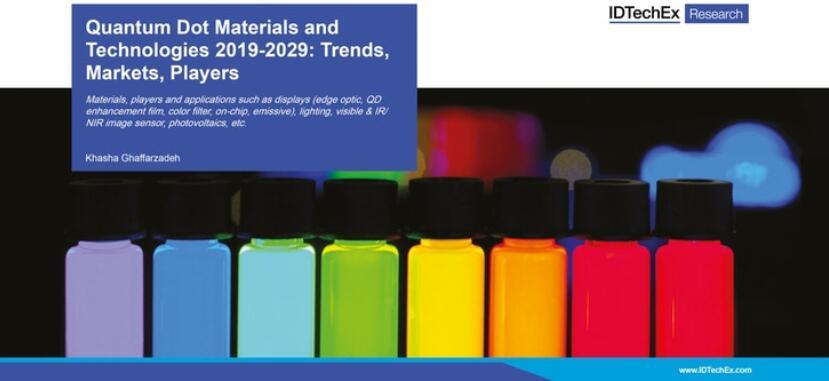本报告涵盖材料、厂商和应用(如显示、照明、可见光和红外/近红外图像传感器、光伏等)
