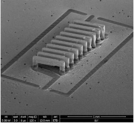 上海迈铸半导体科技有限公司利用MEMS-Casting™技术实现的螺线电感IPD的图片
