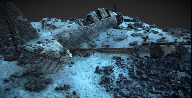 最新水下激光雷达技术,助力探测海底毁灭者战斗机残骸