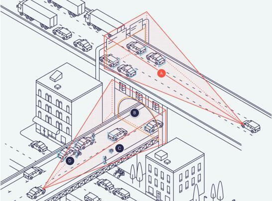 Uhnder的片上雷达解决方案可以在高速行驶中探测交通状况,包括道路上的物体、事故和停在隧道中的车辆等