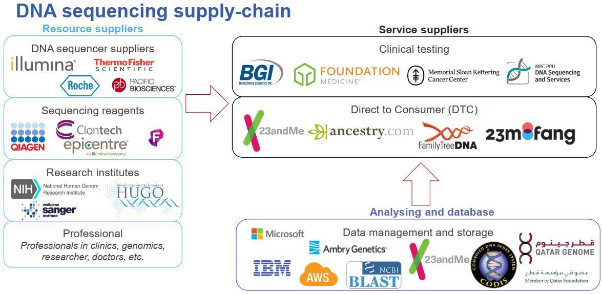 DNA测序供应链情况