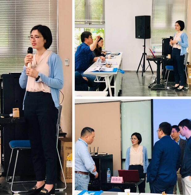 舜宇车载光学技术有限公司市场营销总监谷春燕老师的授课风采