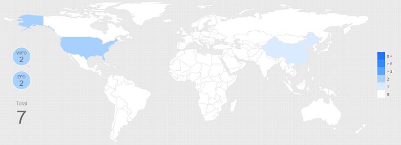 US 7,969,558同族专利分布
