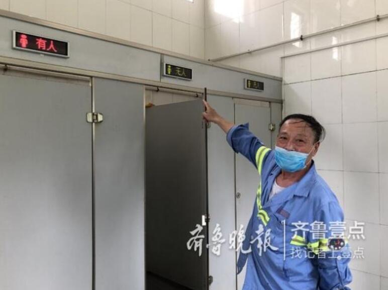 传感器实时监测氨气等,山东智能厕所真高端