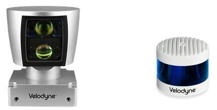 左图为Velodyne早期的HDL-64E激光雷达,右图为PUCK系列激光雷达