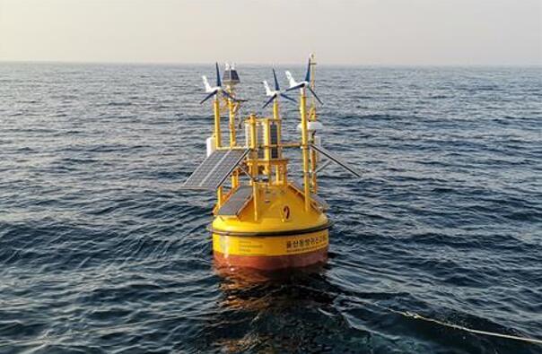位于韩国蔚山市海岸附近的浮动式激光雷达(LiDAR)测风系统