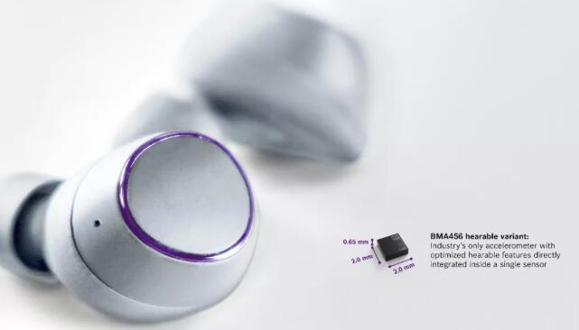 博世推出新款MEMS加速度计BMA456耳戴式版本,增强手势识别和功耗管理