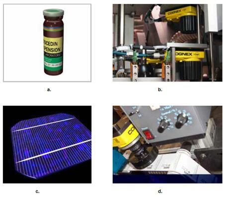 线阵相机能够:(a)展开柱形物品以进行检测;(b)将视觉系统安装到空间狭小的应用环境中;(c)满足高分辨率检测要求;(d)检测处于连续运动状态的物品